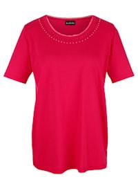 Tričko s rafinovaným kulatým výstřihem