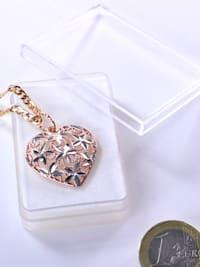 Damen Schmuck Edelstein Ammonit Anhänger 925 Silber braun