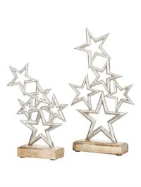 Lot de 2 décorations Étoiles