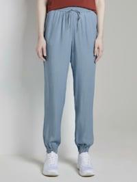 Haremshose in Jeans-Optik mit elastischem Bund