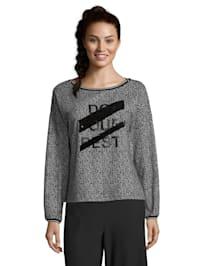 Sweatshirt mit Ringelbündchen