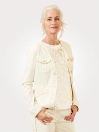 Veste en jean avec coutures d'assemblage
