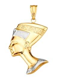 Pendentif Néfertiti en or jaune 375