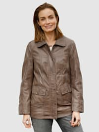 Kožená bunda z jemnej jahňacej nappa