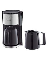 """Kahvinkeitin """"KA9253"""" sekä 2 termoskannua, musta"""