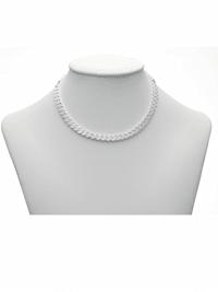 Damen Silberschmuck 925 Silber Flach Panzer Halskette 50 cm