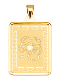 "Pendentif avec signe du zodiaque ""Scorpion"" en or jaune 375"