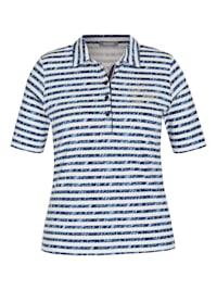 Shirt mit Allover-Muster und Glitzersteinen