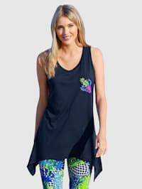T-shirt de plage avec base en pointes