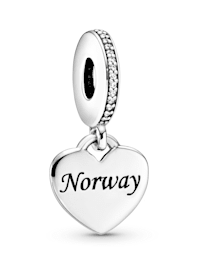 Charm-Anhänger -Herz- Norwegen - 792017CZ E009