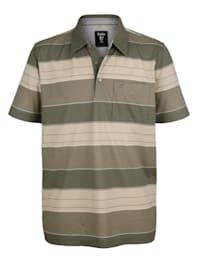 Poloshirt mit garngefärbtem Streifenmuster rundum