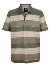 Poloshirt met streeppatroon rondom
