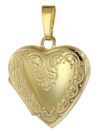 Medaillon Anhänger Herz Gold 333 / 8 Karat