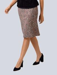 Kjol med diskret leopardmönster