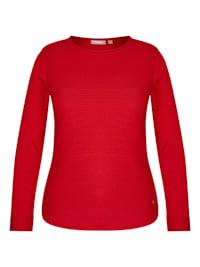 Pullover mit Rundhalsausschnitt und Rollsäumen