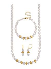 3-delige sieradenset goudkleur