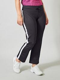 Pantalon de sport À rayures contrastantes