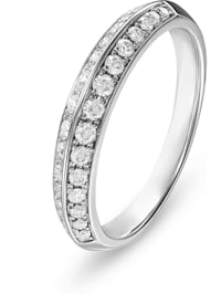 CHRIST Damen-Damenring 585er Weißgold 30 Diamant