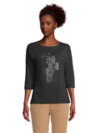Rundhals-Shirt mit 3/4 Arm