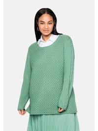 Pullover mit Zopfmuster, kuschelig weich