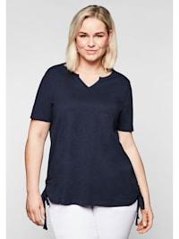 Sheego Shirt mit seitlichen, regulierbaren Raffungen