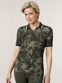 Tričko s pleteným golierom