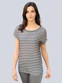 T-shirt à motif rayé tendance