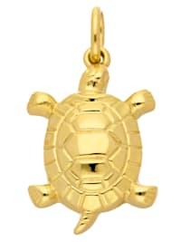 1001 Diamonds Damen Goldschmuck 585 Gold Anhänger Schildkröte
