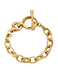 Armband – ärtlänk av guldfärgat silver 925