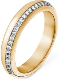 CHRIST Damen-Damenring 24 Diamant