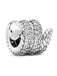 Charm - Funkelnde, zusammengerollte Schlange - 799099C01