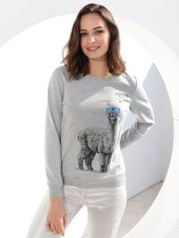 Sweatshirt mit Lama Motiv