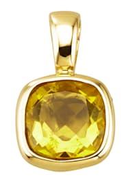 Pendentif clip 1 fluorite jaune