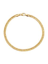 Bracelet maille gourmette en or jaune 750