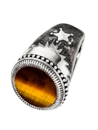 Cai Herren-Herrenring 925er Silber Tigerauge