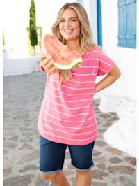 Shirt met meloenen borduursel