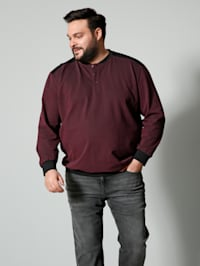 Henley Langarm-Shirt Spezialschnitt
