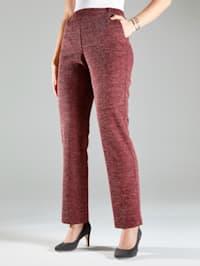 Jersey broek van gemêleerd materiaal