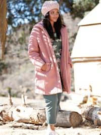 Manteau en fourrure synthétique à capuche