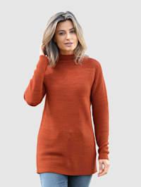 Pullover mit kleinem Stehkragen