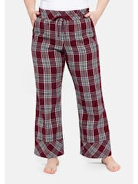 Schlafanzughose im weiten Schnitt, aus weichem Flanell