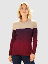 Pullover mit grafischem Strickmuster