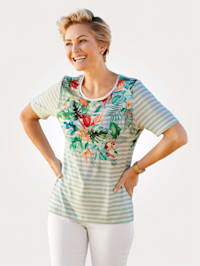 Top with a vibrant floral print