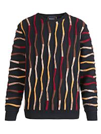 Pullover mit hochwertiger 3D Relief-Struktur
