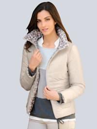 Gewatteerde jas in keerbaar model