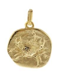 Sternzeichen-Anhänger Krebs 585 Gold 16 mm