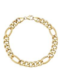 Bracelet maille Figaro en or jaune 375