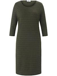 Jerseykleid im Vichy-Look