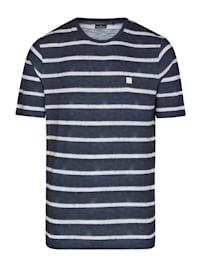 Gestreiftes T-Shirt aus Slub Yarn