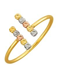 Naisten sormus kelta-, valko- ja roseekultaa